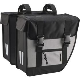 Basil Tour Double Pannier Bag XL, black/silver